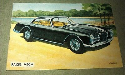 1963 FACEL VEGA  -  Sanitarium Weetbix New Zealand Swap Card - RARE