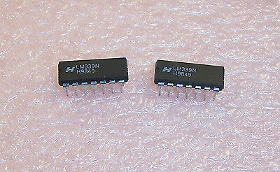 5 LM339N 14 PIN DIP LM339 QUAD COMPARATOR NEW ST MICRO PB-FREE RoHS USA SELLER