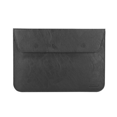 "For Apple MacBook Air 13.3""inch LEATHER Case Slim Sleeve cover Pouch Bag BLACK"