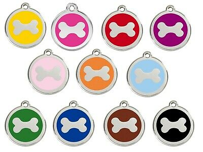Bone Engraved Dog ID identity Tags / discs by Red Dingo (1BN)