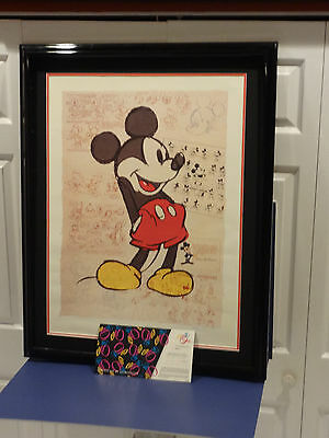 Disney Ralph Kent 70 Years With Mickey Hand Signed & Numbered 599/750 Litho Art