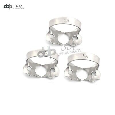 3 Endodontic Rubber Dam Clamp #8A Surgical Dental Instruments