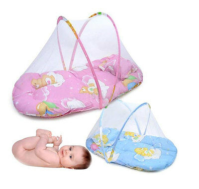 Practical Kids Pillow Folding Mosquito Net Tent Kid Baby Travel Crib Bed Safety