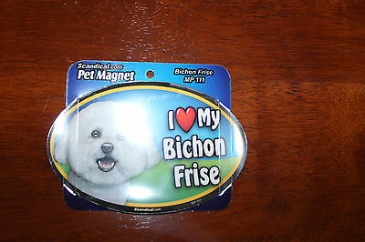 I Love My Dog Oval Magnet *You Choose your Breed* B-C