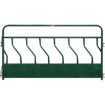 "NEW! Hay Feeder Panel With S-Bar 7 Feeding Spaces 120""L x 2""W, Green!!"