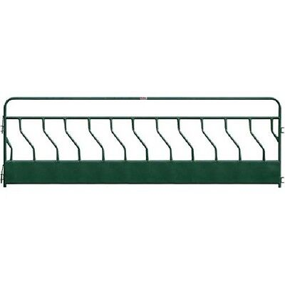 "NEW! Hay Feeder Panel With S-Bar 12 Feeding Spaces 192""L x 2""W, Green!!"