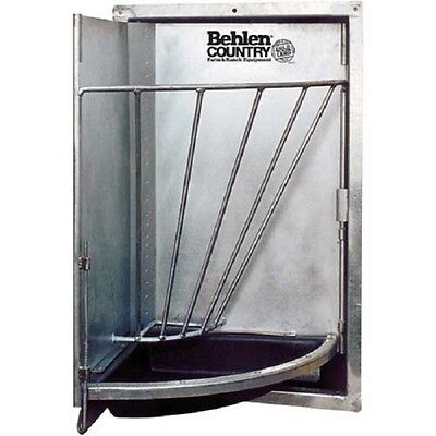 "NEW! Galvanized Swing Out Corner Stall Feeder 20""L x 20""W x 12""H!!"