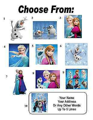 30 Frozen ( Olaf Anna Elsa Kristoff Sven ) Personalized Address Labels
