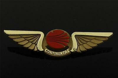 Vintage Advertising CONTINENTAL AIRLINES Plastic Junior Pilot Wings Brooch Pin