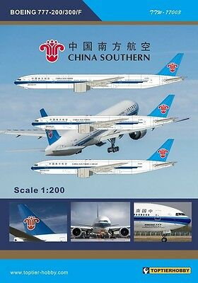 TOPTIERHOBBY 1//200 Boeing 777-200//300//F China Southern Airlines Decal