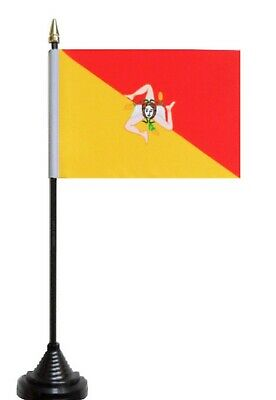Italy Sicily Region Polyester Table Desk Flag