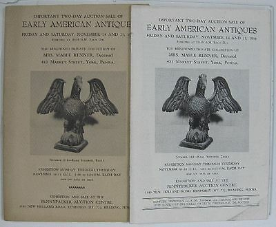 Vintage 1958 Early American Antiques Pennypacker Auctions Catalog