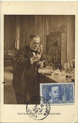Carte-maximum France n° 385 - Pasteur dans son laboratoire (26183)