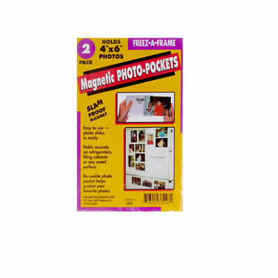 New Freeze-A-Frame 4x6 Magnetic Photo Frame 2 Pack For 4x6 Photos