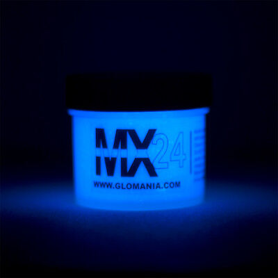 BLUE MX24 Extreme Glow in the Dark Paint Day Invisible  2oz. CHRISTMAS SPECIAL
