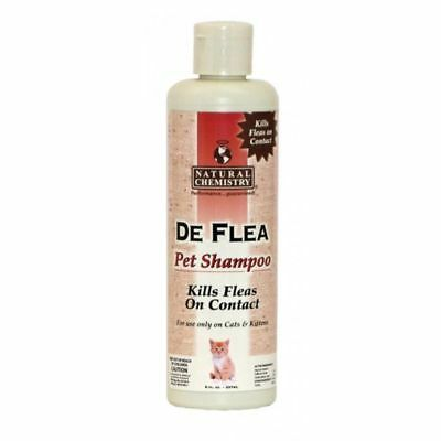Natural Chemistry De Flea Pet Shampoo 8oz  For Cats and Kittens