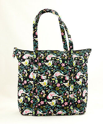 Quilted Cotton Bird Prints Extra Large Tote Q061XT