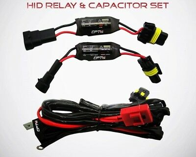 OPT7 HID Anti-Flicker Power Relay and 2 ECM Capacitors Cancellers for HID Kits