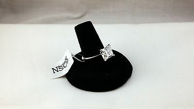 2CT Princess Cut NSCD Certified Wedding Engagement Ring Silver VVS1