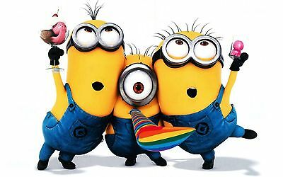 """Despicable Me Minions Iron On Transfer 6.5 """"x 4.5"""" for LIGHT Colored Fabric"""