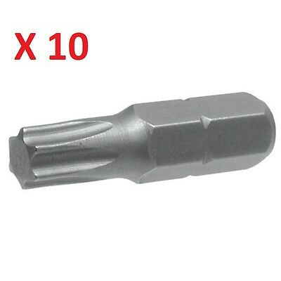 Pack Of 10 Torx Drive T20 Screwdriver Bits Torx T 20