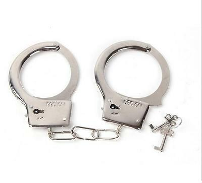 FA US Creative police handcuffs  toy with Double Lock Keys