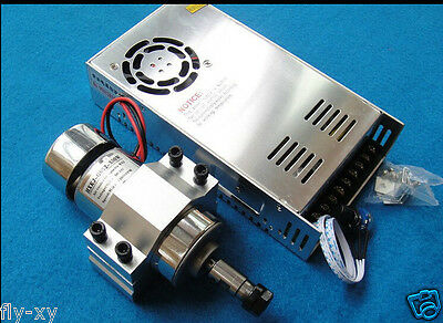300w 12000RPM DC 12V-48V Spindle Motor + adjustable power supply + Mount