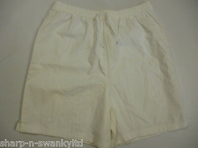 ☆ MARKS & SPENCER Girls White High Waisted 100% Cotton Shorts Age 15 years ☆
