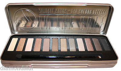 W7 In The Buff 12 piece natural nude eye shadow palette in brown, cream & buff