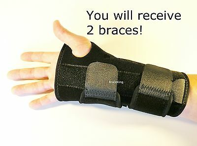 FDA APPROVED 2 Carpal Tunnel Wrist Brace Support Splint by BraceKing
