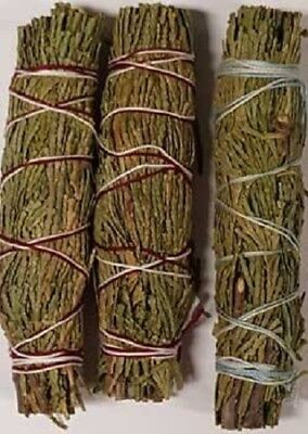 Cedar Sage Smudge: 3 Stick Value Pack! (Herb, House Cleansing Negativity Removal