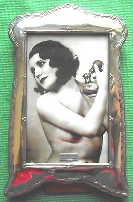 LARGE Art Nouveau London Hallmark Solid Silver Photo Frame : Xmas Valentines