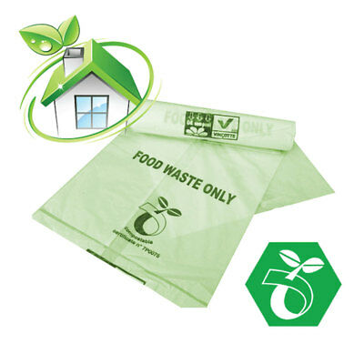Biodegradable Food Waste Bags ~ 7/8L ~ 4 rolls ~100 Caddy Liners ~ Caddy Bags