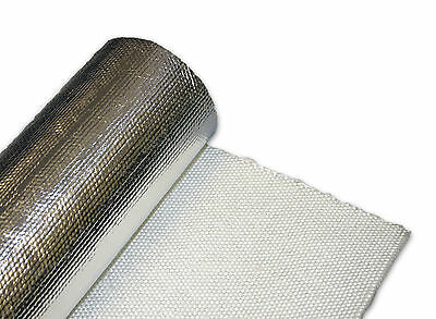 Exhaust Turbo Heat Shield Wrap Mat 1m x 500mm - Foil Backed Glass Fibre
