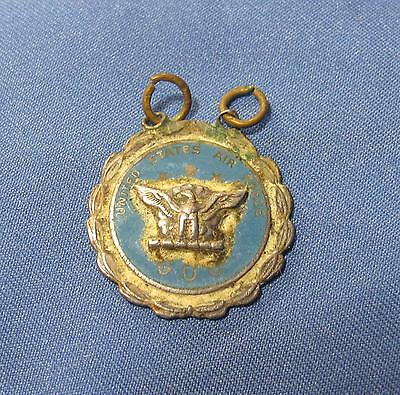 WWII US Air Force USAF GOC Ground Observer Corps Home Front Blue Enamel Pendant