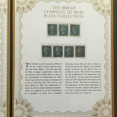 1858-1869 Complete 2d Twopenny Blue plate Stamps Collection In Collector Folder