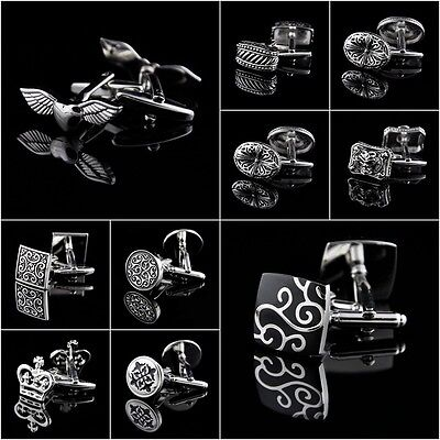 Mens Crystal Shirt Cufflinks Wholesale Stainless Steel Wedding Silver Business