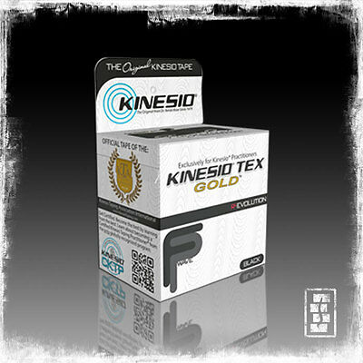 Kinesio Tape Tex Gold FP Wave [Black] Fingerprint Technology Therapeutic Tape