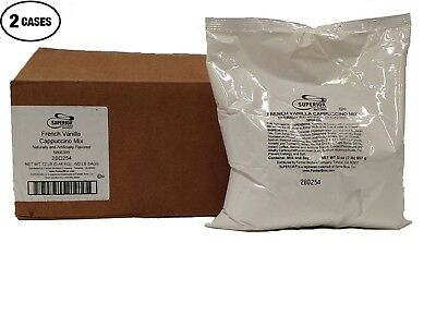 Superior Cappuccino Mix French Vanilla 12 Bags/2 Lbs Each By Farmer Bros