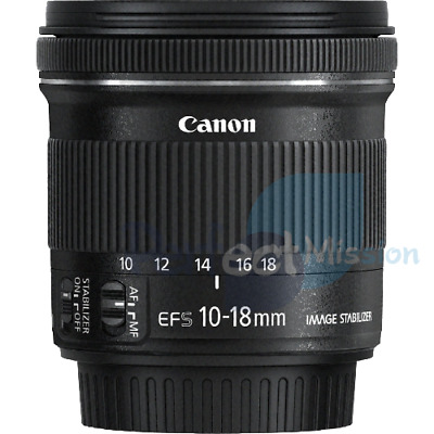 Genuine .  Canon EF-S 10-18mm f/4.5-5.6 IS STM Retail Pack  + Warranty