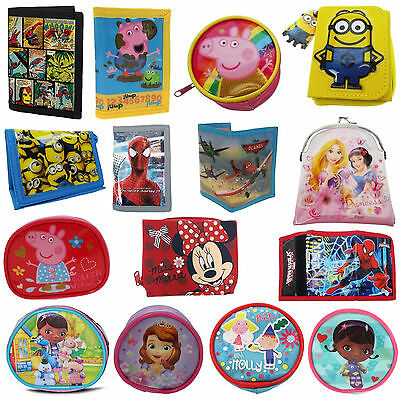 Disney & Kids TV Character Coin  Bag Purse Wallet Brand New Gift