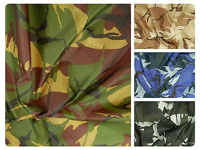 """Camo Ripstop Army Military Camouflage Fabric Material -59""""/150cm wide - Rip-Stop"""