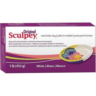 SCULPEY ORIGINAL - Oven Bake Polymer Clay - 454gm Block (1lb) - WHITE