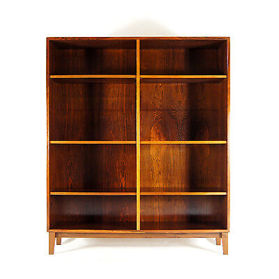 Retro Vintage Danish Tall Rosewood Bookcase Wall Cabinet Sideboard 1950s 60s 70s