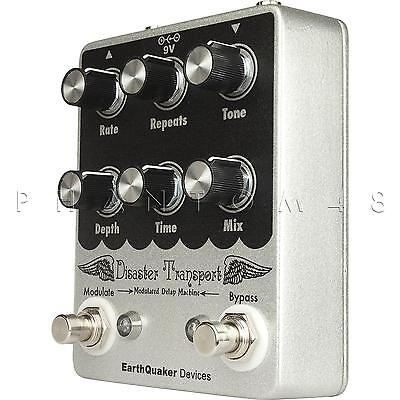 EarthQuaker Devices Disaster Transport Delay, Reverb & Mod Guitar Pedal - NEW