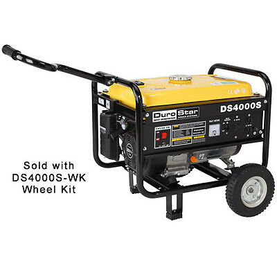 DuroStar DS4000S Gas Powered 4000 Watt RV Portable Generator with Wheel Kit