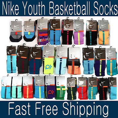Nike Elite Cushioned Basketball socks, KD Hyper Elite socks Youth 3-5 women 4-6