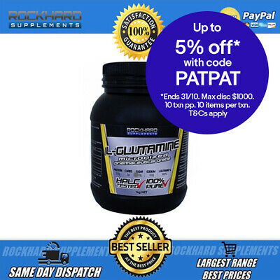L-Glutamine (1kg) Micronised Highest Quality 100% Pure Muscle Recovery