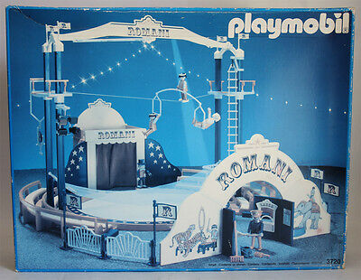Very Rare Vintage 1991 Playmobil 3720 Romani Circus Ring New Sealed Contents !