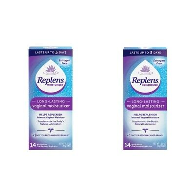 Replens Long Lasting Vaginal Moisturizer 14 Applications - 35g Ea (Pack of 2)